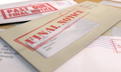 A 3D Render Of Scattered Stack Regular Envelopes With Delivery Stamps And Clear